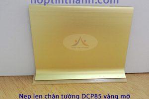 Nẹp phào len chân tường DCP60 DCP85 màu vàng mờ - nhìn thẳng