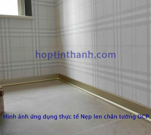 Căn phòng sử dụng nẹp phào len chân tường DCP Hợp Tín Thành