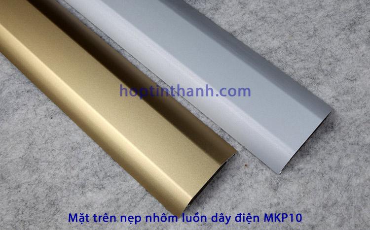 Mặt trên của nẹp luồn dây điện MKP10