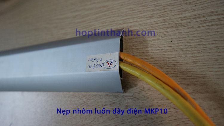 Nẹp nhôm MKP10 luồn dây điện, mạng