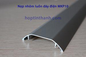 Mặt cắt phần máng nhôm của nẹp luồn dây điện MKP10