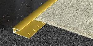 Sử dụng nẹp sàn nhôm khi lắp đặt thảm sàn 2