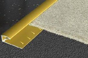 Sử dụng nẹp sàn nhôm khi lắp đặt thảm sàn
