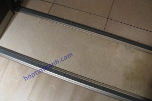 Công trình sàn gạch sử dụng nẹp chênh cốt hợp kim nhôm Hợp Tín Thành