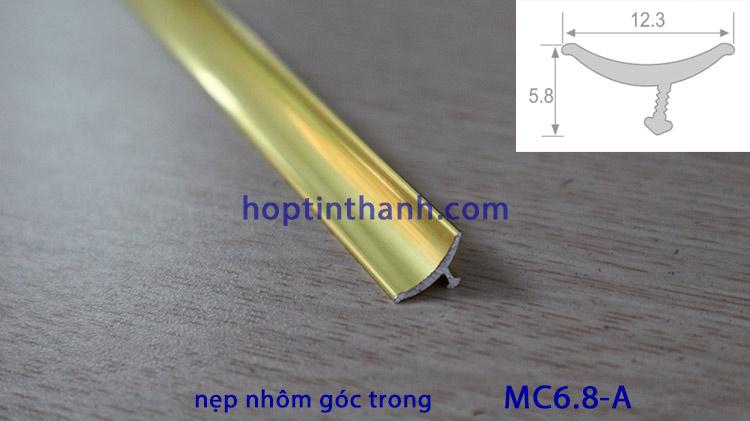 Nẹp nhôm góc trong (góc âm) MC6.8 Hợp Tín Thành