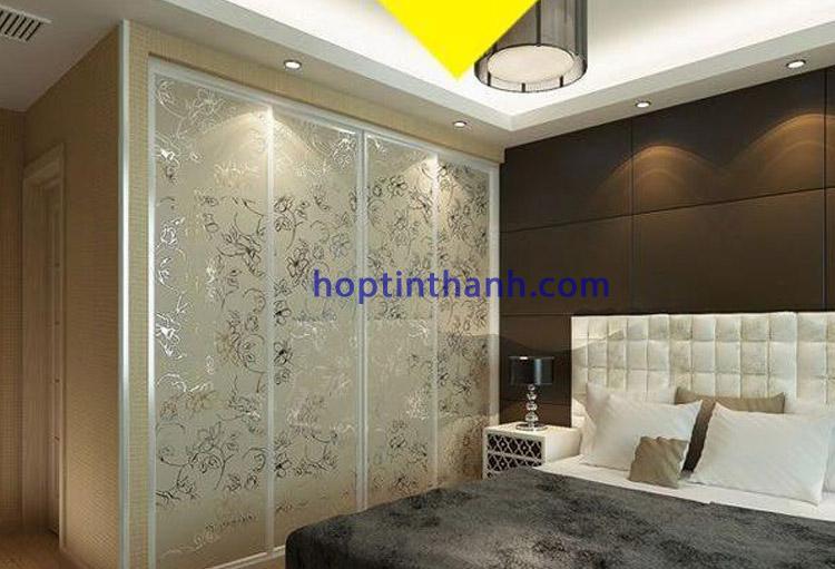 Công trình phòng ngủ ứng dụng nẹp chữ V bo góc của Hợp Tín Thành