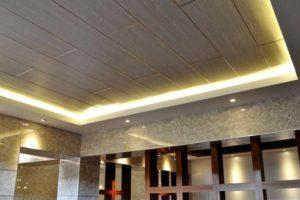 Trang trí trần sảnh khách sạn dùng nẹp trang trí chỉ