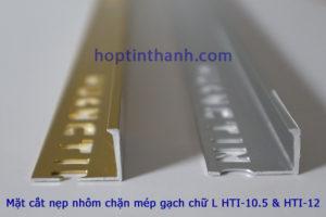 Mặt cắt nẹp chặn mép gạch hợp kim nhôm chữ L Hợp Tín Thành