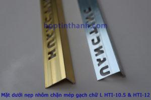 Mặt dưới nẹp chặn mép gạch hợp kim nhôm chữ L Hợp Tín Thành