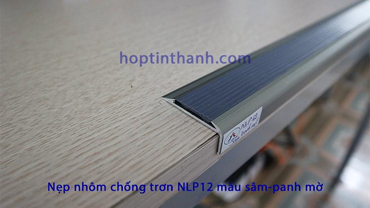 Nẹp nhôm chống trơn NLP12 mầu sâm-panh mờ - Hợp Tín Thành