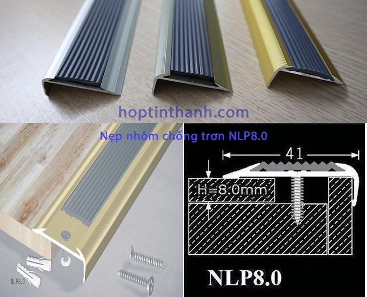 Nẹp nhôm chống trơn NLP8.0 - Hợp Tín Thành