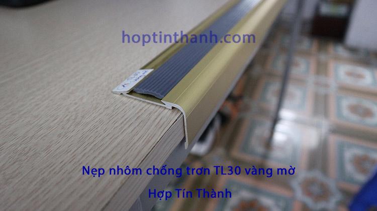 Nẹp nhôm chống trơn TL30 vàng mờ - Hợp Tín Thành