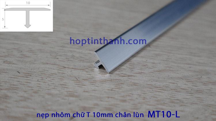 Nẹp nhôm chữ T 10mm chân lùn MT10-L Hợp Tín Thành