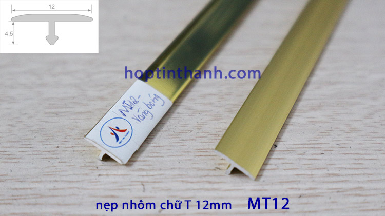 Nẹp nhôm chữ T 12mm MT12 Hợp Tín Thành