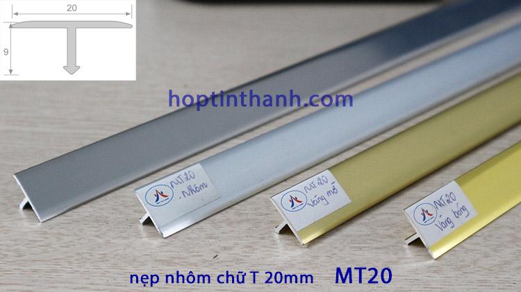 Nẹp nhôm chữ T 20mm MT20 Hợp Tín Thành