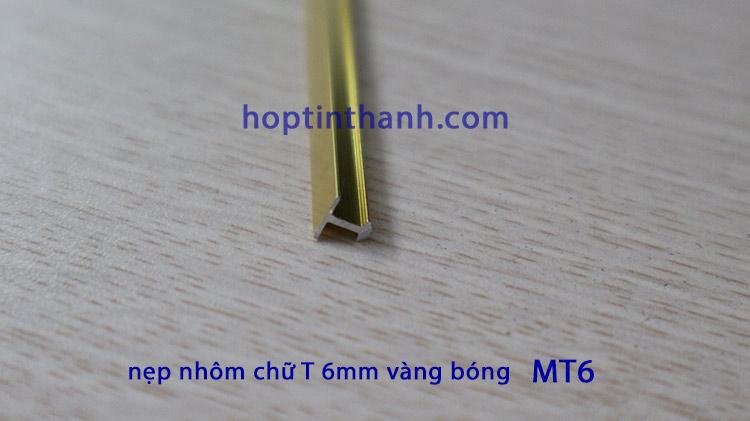 Hình ảnh thanh nẹp nhôm chữ T 6mm màu vàng bóng MT6.0 Hợp Tín Thành