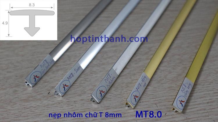 Nẹp nhôm chữ T 8mm MT8.0 Hợp Tín Thành