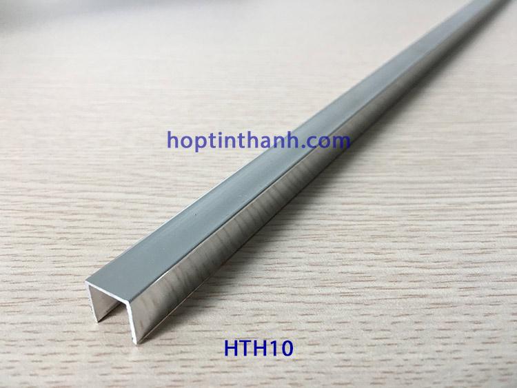 Nẹp nhôm chữ U HTH10 màu inox Hợp Tín Thành
