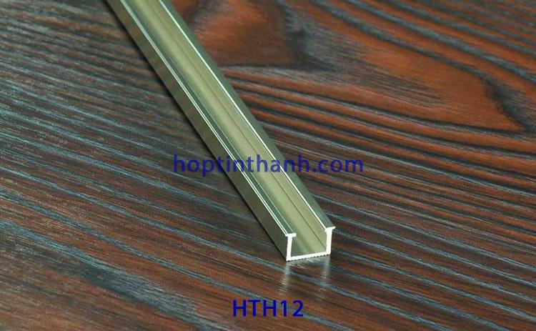 Nẹp nhôm chữ U âm HTH12.5 Hợp Tín Thành