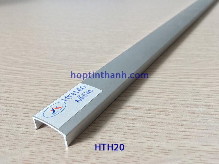 Nẹp nhôm chữ U 20mm HTH20 màu nhôm Hợp Tín Thành