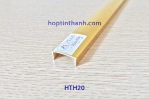 Nẹp nhôm chữ U 20mm HTH20 vàng bóng Hợp Tín Thành