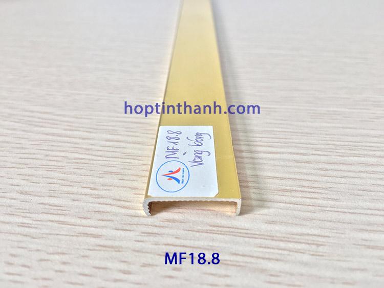 Nẹp nhôm chữ U bo cạnh MF18.8 màu vàng bóng Hợp Tín Thành
