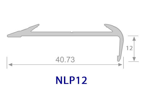 Thông số mặt cắt Nẹp nhôm chống trơn NLP12 - Hợp Tín Thành