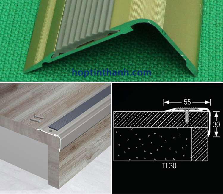Mô tả ứng dụng nẹp nhôm chống trơn TL30