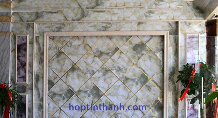 Công trình vách đá dùng nẹp nhôm chữ U HTH5.0 Hợp Tín Thành