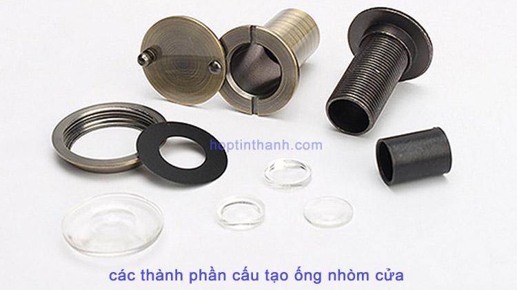 Các thành phần cấu tạo ống nhòm cửa - mắt soi cửa