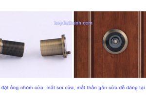 Lắp đặt ống nhòm cửa, mắt soi cửa, mắt thần gắn cửa dễ dàng tại nhà