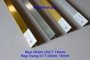 Mặt cắt nẹp nhôm trang trí T 14mm