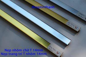 Các màu nẹp nhôm trang trí T 14mm