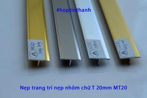 Nẹp trang trí nhôm chữ T 20mm MT20