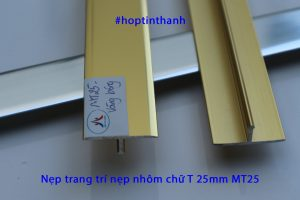 Nẹp trang trí chỉ T hợp kim nhôm 25mm MT25