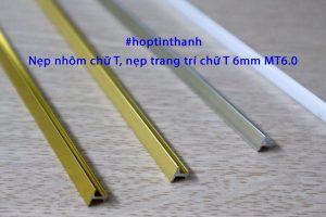 Nẹp trang trí nẹp nhôm chữ T 6mm – MT6.0 các màu