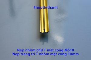 Nẹp nhôm chữ T mặt cong 10mm MS10