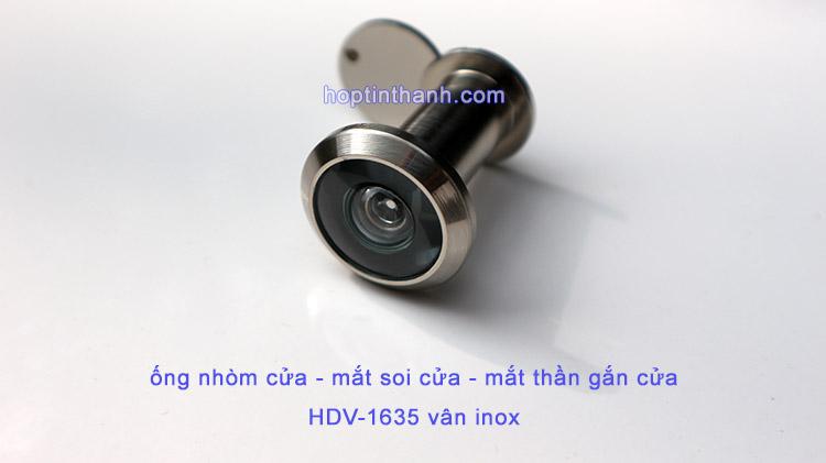 Mặt trước ống nhòm cửa - mắt soi cửa - mắt thần gắn cửa HDV1635
